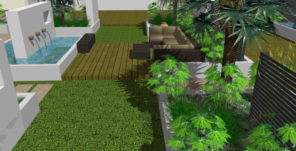 perspective landscape 1 Benedict Green Garden Design